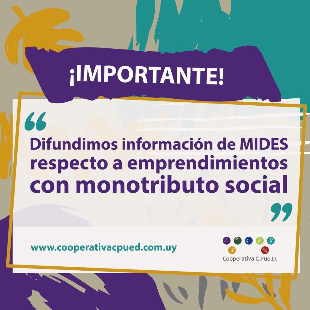 Comunicado del Mides sobre Monotributo Social